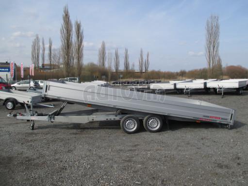 Hydraulicky sklopný přívěs pro přepravu aut AD 5 2,7T 5,17x2,09 valník** bazar č.16