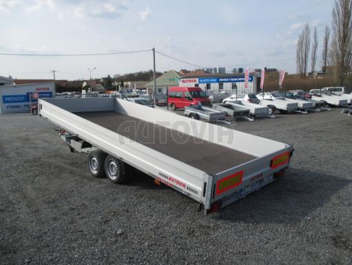Hydraulicky sklopný přívěs pro přepravu aut AD 5 2,7T 5,17x2,09 valník** bazar č.17