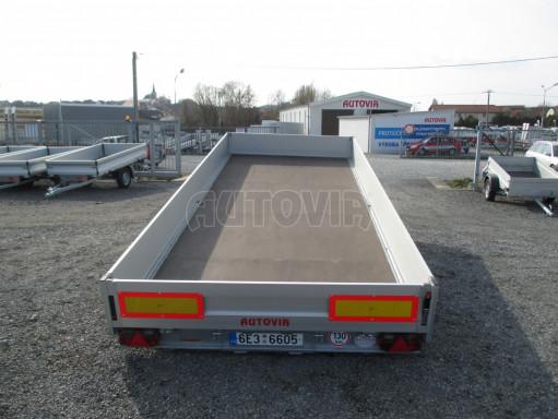 Hydraulicky sklopný přívěs pro přepravu aut AD 5 2,7T 5,17x2,09 valník** bazar č.18