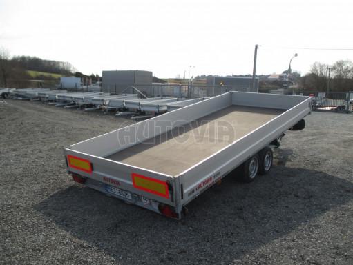 Hydraulicky sklopný přívěs pro přepravu aut AD 5 2,7T 5,17x2,09 valník** bazar č.19