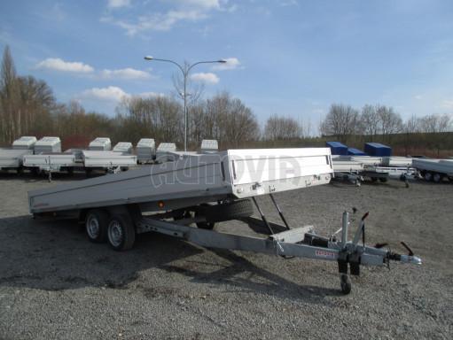 Hydraulicky sklopný přívěs pro přepravu aut AD 5 2,7T 5,17x2,09 valník** bazar č.21
