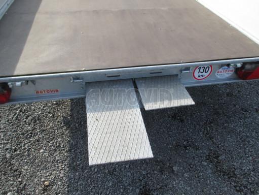 Hydraulicky sklopný přívěs pro přepravu aut AD 5 2,7T 5,17x2,09 valník** bazar č.22