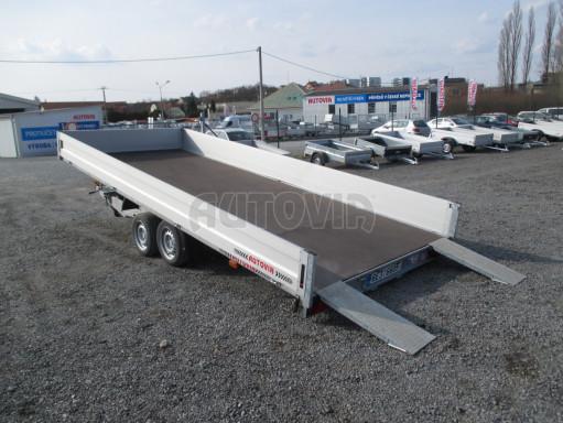 Hydraulicky sklopný přívěs pro přepravu aut AD 5 2,7T 5,17x2,09 valník** bazar č.4