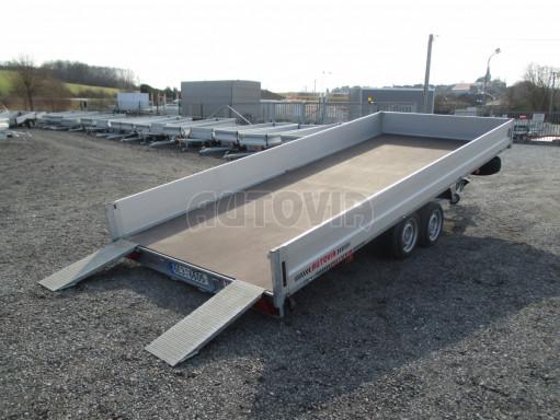 Hydraulicky sklopný přívěs pro přepravu aut AD 5 2,7T 5,17x2,09 valník** bazar č.25