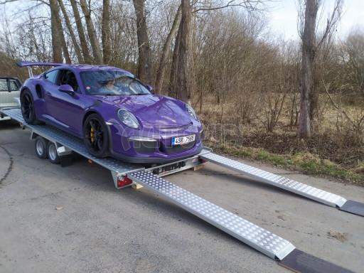 Přívěs pro přepravu sportovních aut  KAR 47 3,0T 4,70 x 2,015 č.1