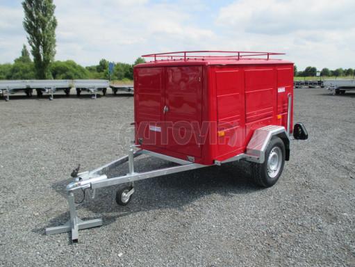 Nebrzděný podvozek pod hasičskou skříň PS 12, VA 750kg 2,06x1,27 zes. náprava č.1