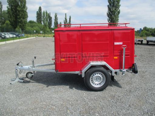 Nebrzděný podvozek pod hasičskou skříň PS 12, VA 750kg 2,06x1,27 zes. náprava č.2