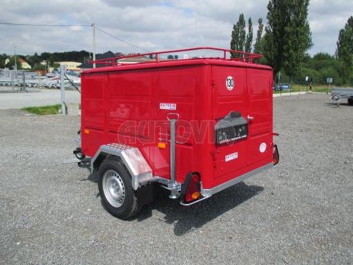Nebrzděný podvozek pod hasičskou skříň PS 12, VA 750kg 2,06x1,27 zes. náprava č.3
