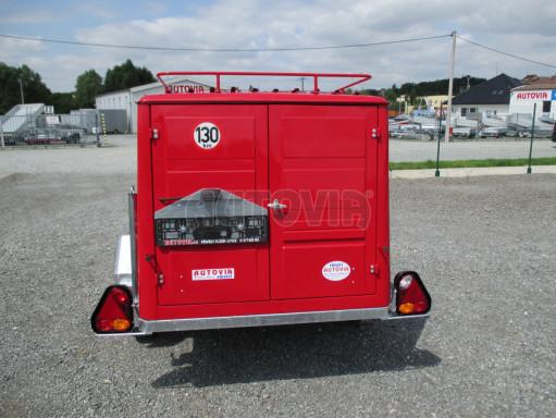 Nebrzděný podvozek pod hasičskou skříň PS 12, VA 750kg 2,06x1,27 zes. náprava č.5