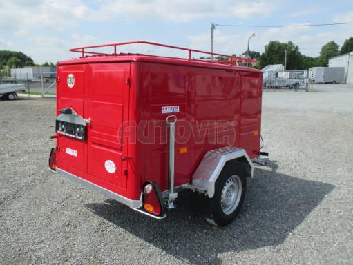 Nebrzděný podvozek pod hasičskou skříň PS 12, VA 750kg 2,06x1,27 zes. náprava č.6
