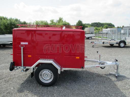 Nebrzděný podvozek pod hasičskou skříň PS 12, VA 750kg 2,06x1,27 zes. náprava č.7