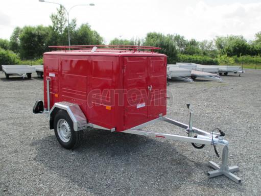 Nebrzděný podvozek pod hasičskou skříň PS 12, VA 750kg 2,06x1,27 zes. náprava č.8