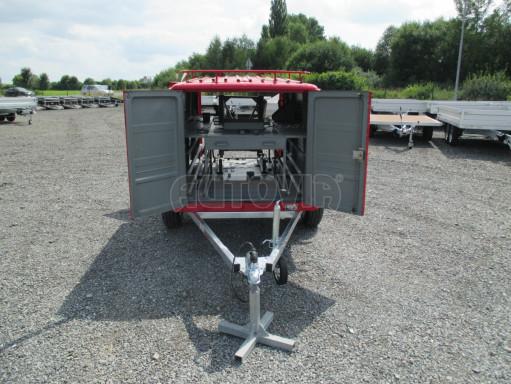 Nebrzděný podvozek pod hasičskou skříň PS 12, VA 750kg 2,06x1,27 zes. náprava č.9