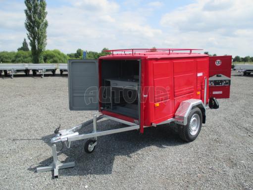 Nebrzděný podvozek pod hasičskou skříň PS 12, VA 750kg 2,06x1,27 zes. náprava č.11