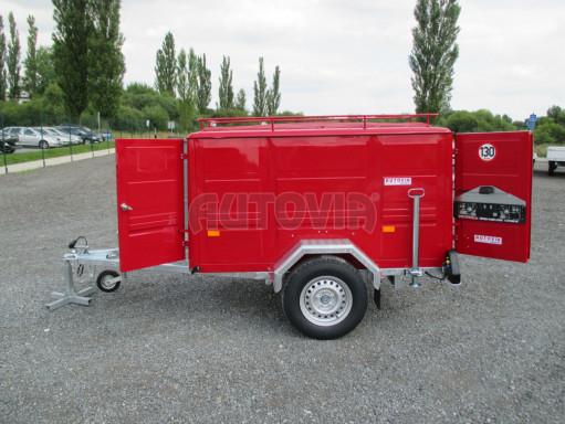 Nebrzděný podvozek pod hasičskou skříň PS 12, VA 750kg 2,06x1,27 zes. náprava č.12