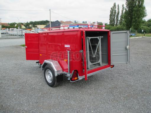 Nebrzděný podvozek pod hasičskou skříň PS 12, VA 750kg 2,06x1,27 zes. náprava č.13