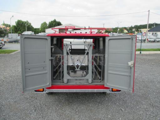 Nebrzděný podvozek pod hasičskou skříň PS 12, VA 750kg 2,06x1,27 zes. náprava č.4