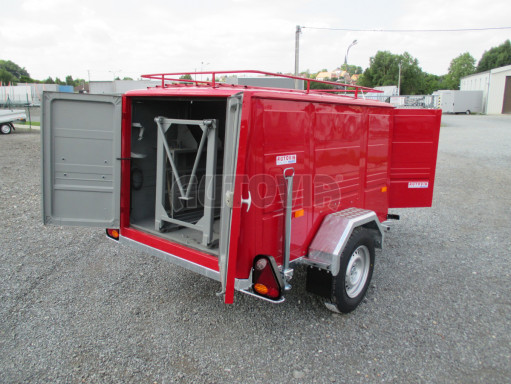 Nebrzděný podvozek pod hasičskou skříň PS 12, VA 750kg 2,06x1,27 zes. náprava č.14