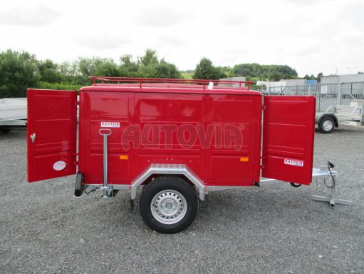 Nebrzděný podvozek pod hasičskou skříň PS 12, VA 750kg 2,06x1,27 zes. náprava č.15