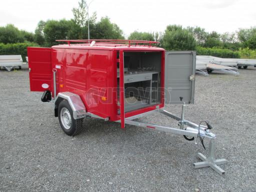 Nebrzděný podvozek pod hasičskou skříň PS 12, VA 750kg 2,06x1,27 zes. náprava č.16