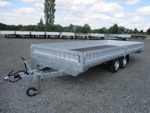 Přívěsný vozík v provedení valník VER 2,7T 5,03x2,06/0,30 č.1