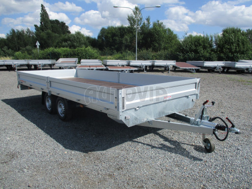 Přívěsný vozík v provedení valník VER 2,7T 5,03x2,06/0,30 č.8