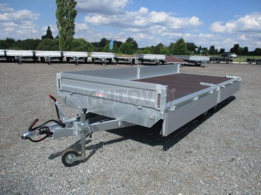 Přívěsný vozík v provedení valník VER 2,7T 5,03x2,06/0,30 č.2