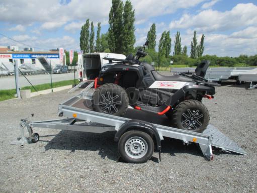 Sklápěcí přívěs na převoz čtyřkolek, mechanizace PZ SK 750kg 2,51x1,65* č.2