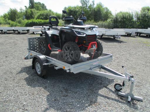 Sklápěcí přívěs na převoz čtyřkolek, mechanizace PZ SK 750kg 2,51x1,65* č.17