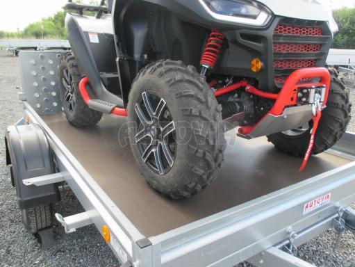 Sklápěcí přívěs na převoz čtyřkolek, mechanizace PZ SK 750kg 2,51x1,65* č.19