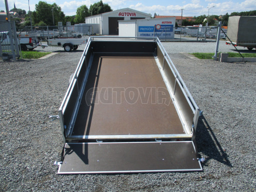 Naklápěcí nebrzděný PROFI přívěs ZV 31 750kg N1 skl 3,01x1,54/0,30 zes. náprava POČ** č.30