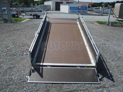 Naklápěcí nebrzděný PROFI přívěs ZV 31 750kg N1 skl 3,01x1,54/0,30 zes. náprava POČ** č.34