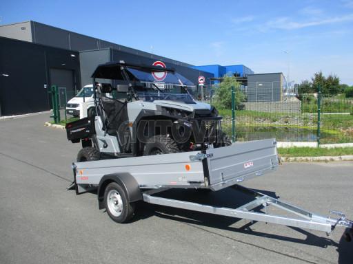 Sklopný přívěsný vozík za osobní auto ZV 31 ALU N1 skl 3,00x1,55/0,35 POČ ZN** č.1