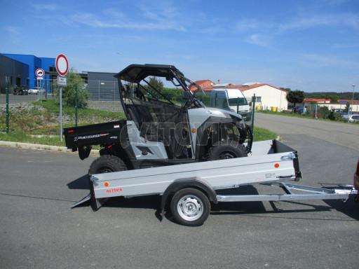 Sklopný přívěsný vozík za osobní auto ZV 31 ALU N1 skl 3,00x1,55/0,35 POČ ZN** č.2