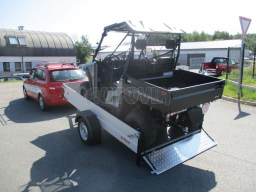 Sklopný přívěsný vozík za osobní auto ZV 31 ALU N1 skl 3,00x1,55/0,35 POČ ZN** č.5