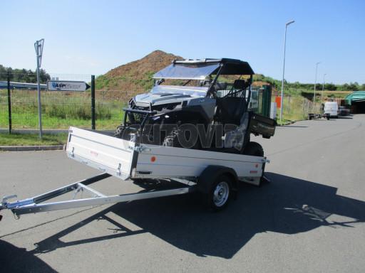Sklopný přívěsný vozík za osobní auto ZV 31 ALU N1 skl 3,00x1,55/0,35 POČ ZN** č.7
