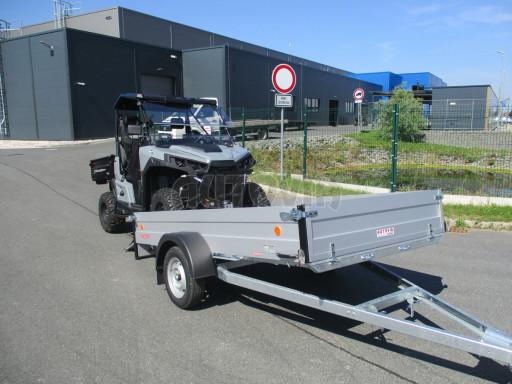 Sklopný přívěsný vozík za osobní auto ZV 31 ALU N1 skl 3,00x1,55/0,35 POČ ZN** č.9