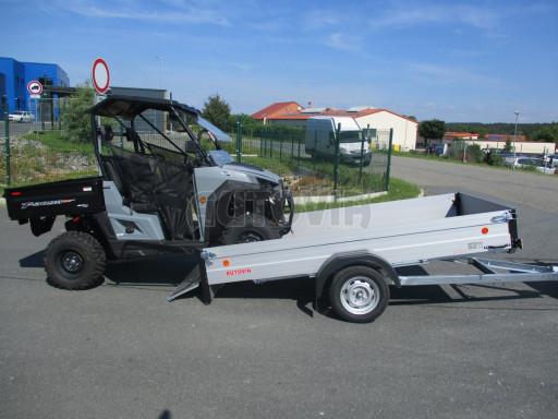 Sklopný přívěsný vozík za osobní auto ZV 31 ALU N1 skl 3,00x1,55/0,35 POČ ZN** č.10