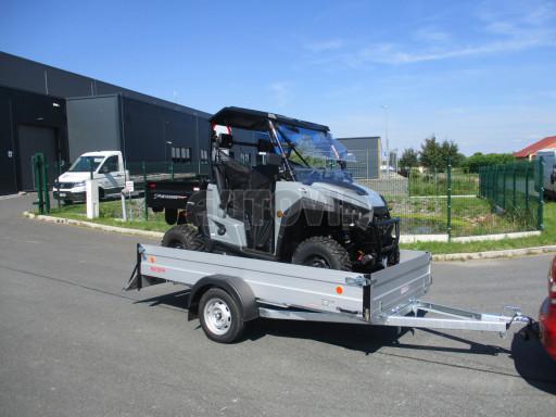 Sklopný přívěsný vozík za osobní auto ZV 31 ALU N1 skl 3,00x1,55/0,35 POČ ZN** č.18