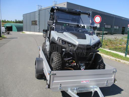 Sklopný přívěsný vozík za osobní auto ZV 31 ALU N1 skl 3,00x1,55/0,35 POČ ZN** č.19