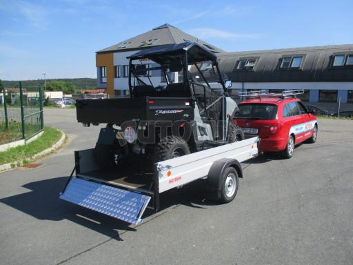 Sklopný přívěsný vozík za osobní auto ZV 31 ALU N1 skl 3,00x1,55/0,35 POČ ZN** č.21