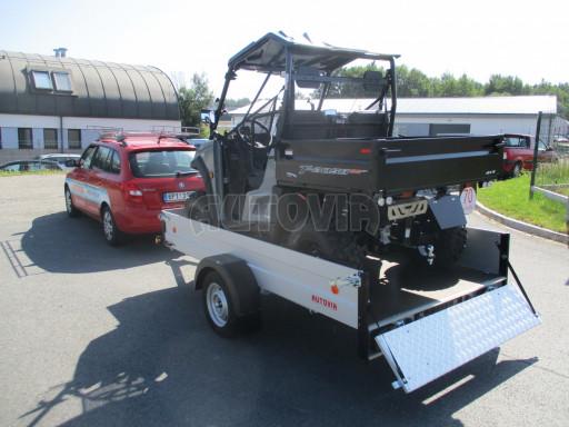 Sklopný přívěsný vozík za osobní auto ZV 31 ALU N1 skl 3,00x1,55/0,35 POČ ZN** č.23