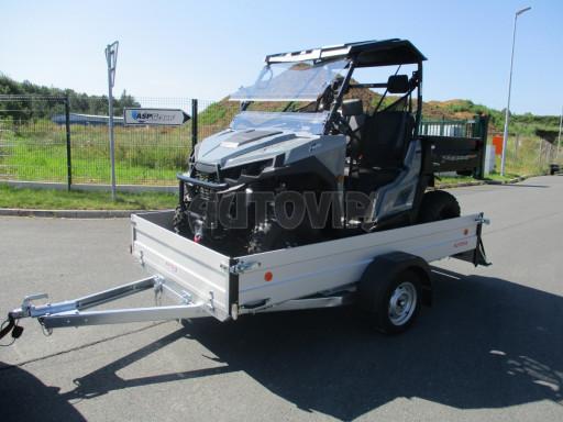 Sklopný přívěsný vozík za osobní auto ZV 31 ALU N1 skl 3,00x1,55/0,35 POČ ZN** č.25