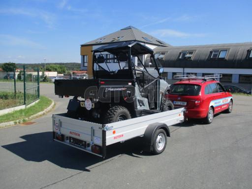 Sklopný přívěsný vozík za osobní auto ZV 31 ALU N1 skl 3,00x1,55/0,35 POČ ZN** č.28
