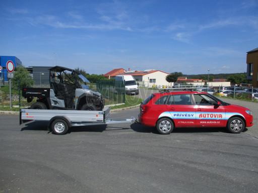 Sklopný přívěsný vozík za osobní auto ZV 31 ALU N1 skl 3,00x1,55/0,35 POČ ZN** č.29