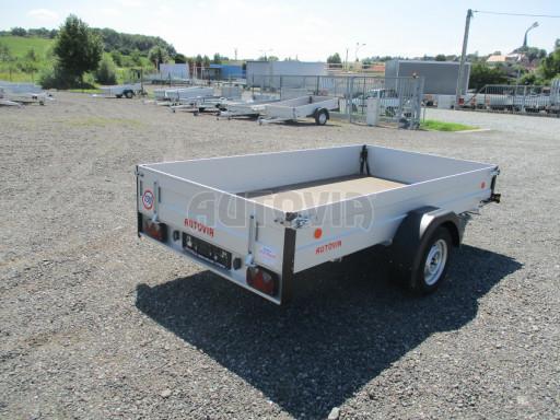 Sklopný přívěsný vozík za osobní auto ZV 31 ALU N1 skl 3,00x1,55/0,35 POČ ZN** č.35