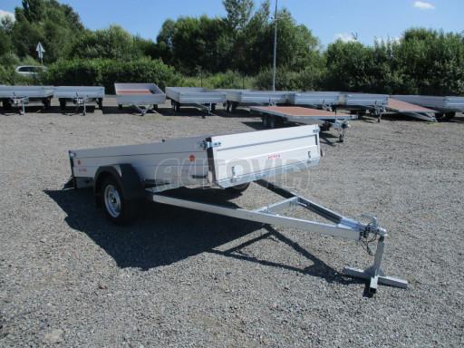 Sklopný přívěsný vozík za osobní auto ZV 31 ALU N1 skl 3,00x1,55/0,35 POČ ZN** č.53